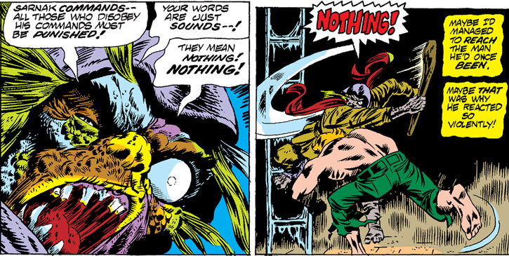 Sarnak (Werewolf by Night enemy) (Marvel Comics) - disfigured henchman