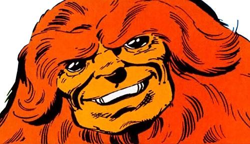 Sasquatch (Marvel Comics) bestial face closeup