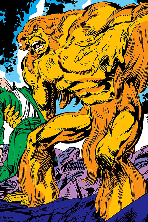 Sasquatch (Marvel Comics) amidst wreckage
