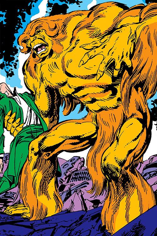 Sasquatch (Marvel Comics) amidst wreckage