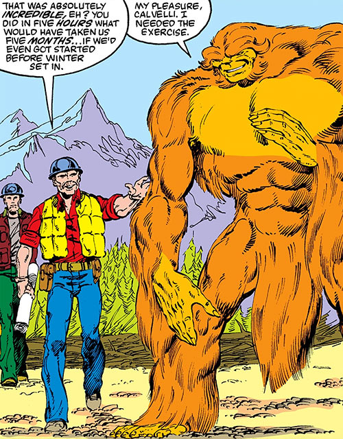 Sasquatch (Marvel Comics) and workers