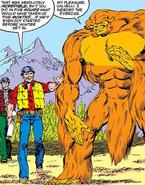 Sasquatch (Marvel Comics) and workers