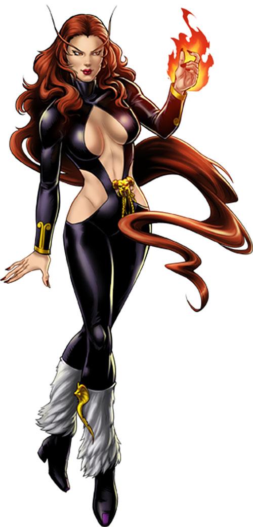 Satana in her classic costume