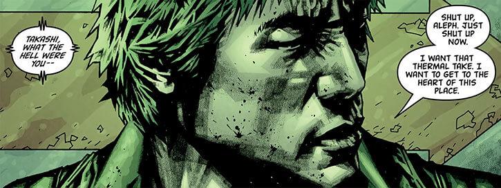 Sato Takashi - Global Frequency comics - Face closeup