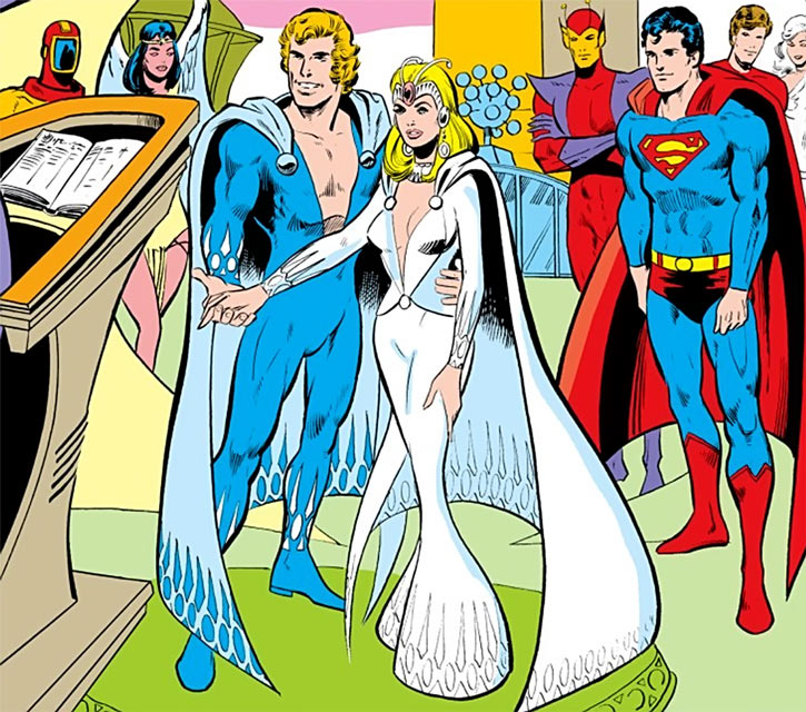 Saturn Girl and Lightning Lad (DC Comics) marriage ceremony 1978