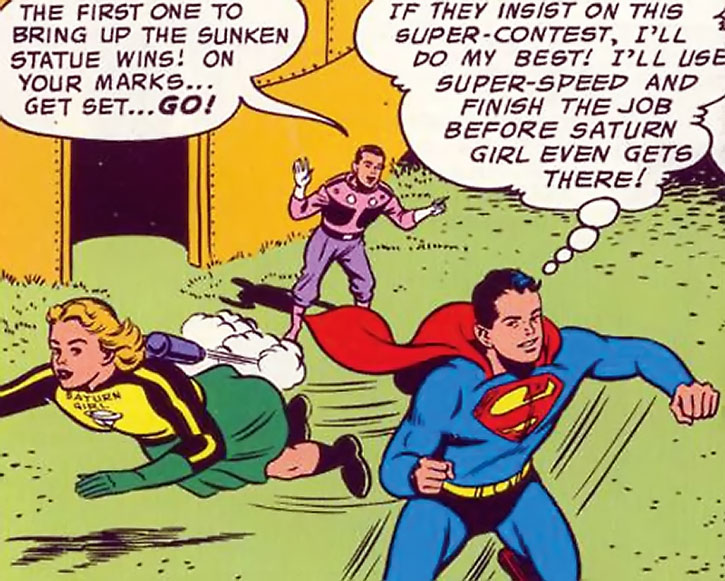 Saturn Girl (Imra Ardeen), Superboy and Cosmic Boy during the Silver Age