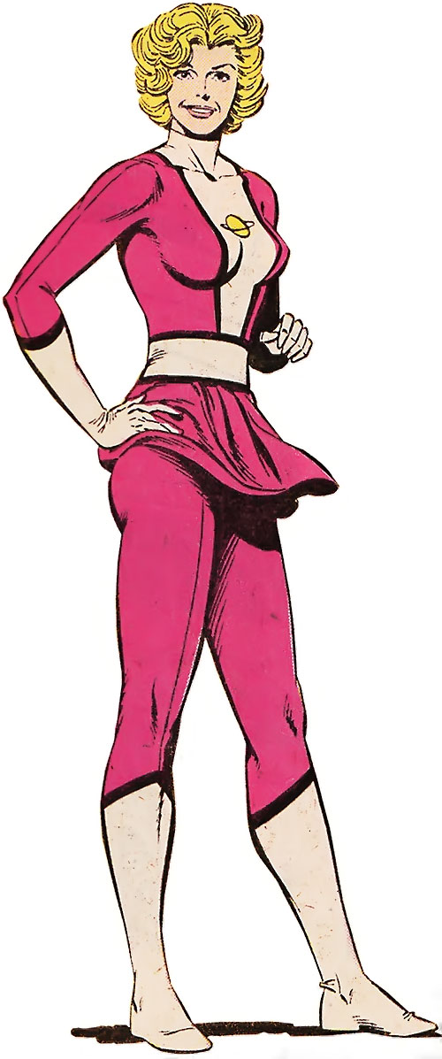 Saturn Girl (Classic DC Comics) hot pink and white costume