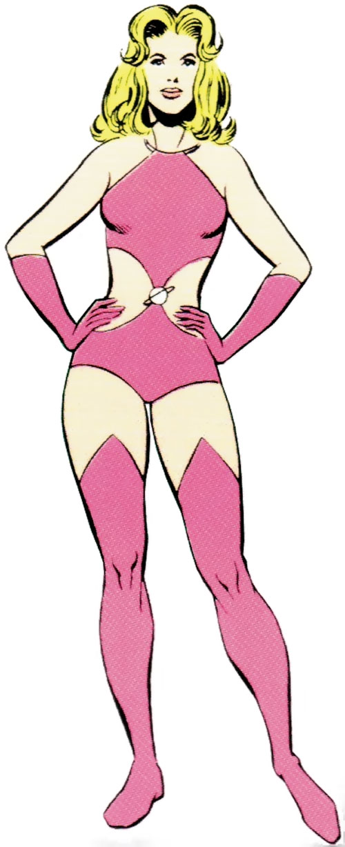 Saturn Girl (Classic DC Comics) pink swimsuit costume
