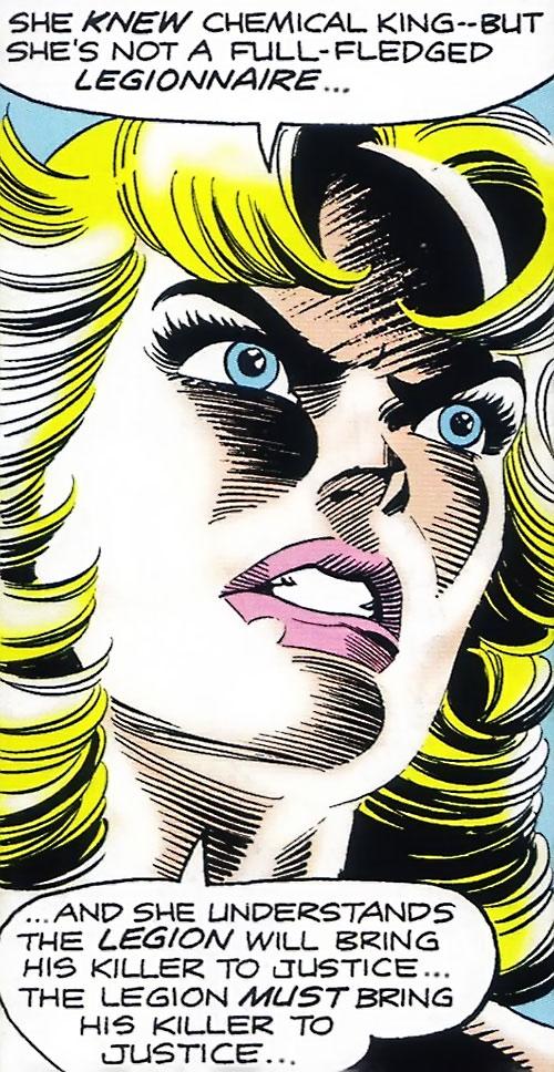 Saturn Girl (Classic DC Comics) angry face closeup