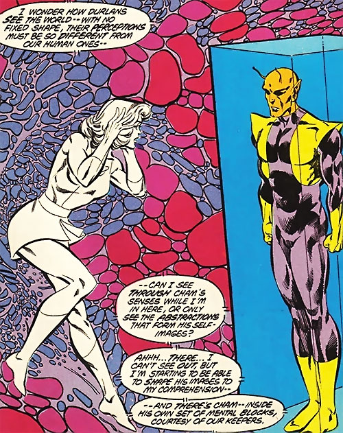 Saturn Girl (Classic DC Comics) within Chameleon Boy's mind