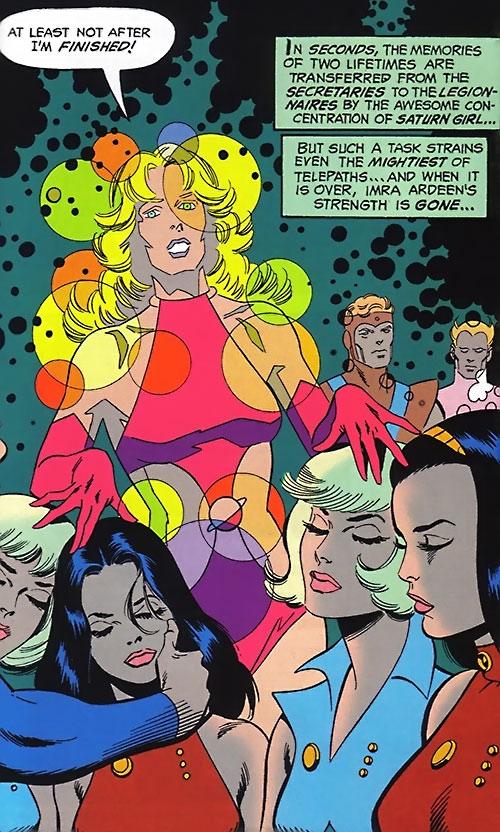Saturn Girl (Classic DC Comics) mind-probing 4 young women