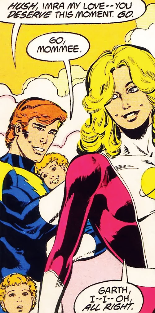 Saturn Girl (Classic DC Comics) with her family