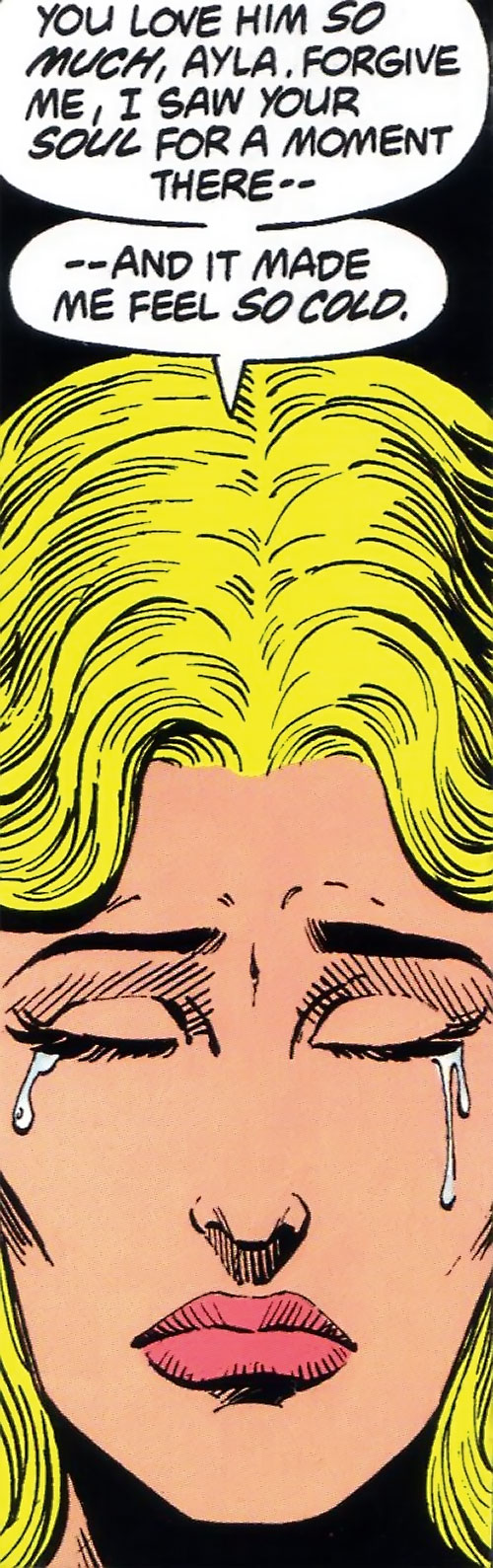 Saturn Girl (Classic DC Comics) crying face closeup