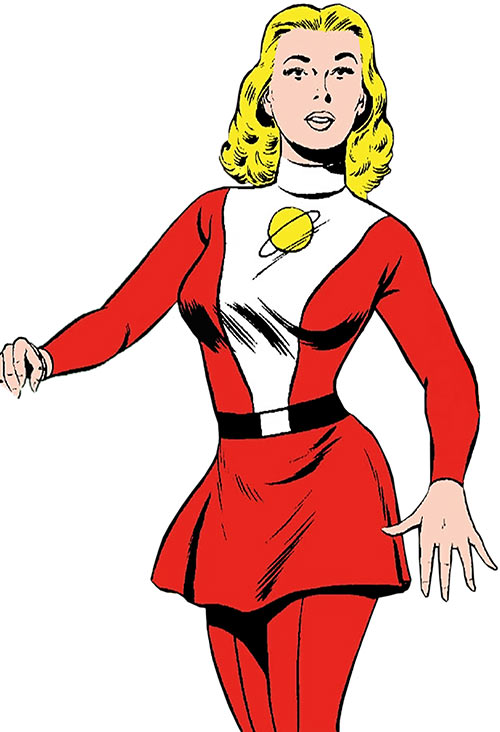 Saturn Girl of the Legion of Super-Heroes (Silver Age DC Comics) more dynamic pose