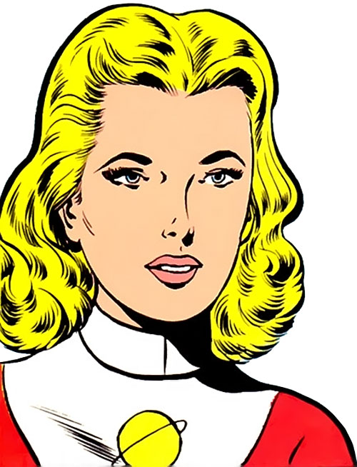 Saturn Girl of the Legion of Super-Heroes (Silver Age DC Comics) face closeup