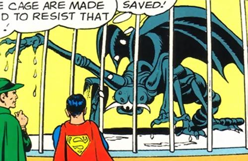Saturnian scorpion beast caged (Legion of Super-Heroes) (DC Comics)