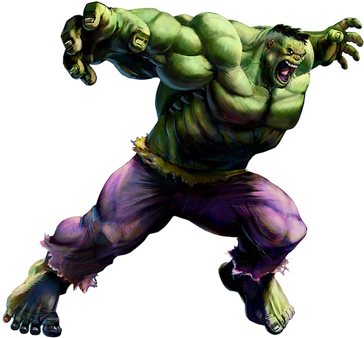 Marvel vs. Capcom drawing of the Hulk over a white background