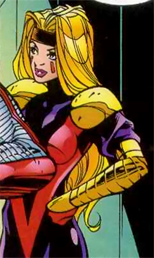 Scanner of the Acolytes (X-Men Marvel Comics) with her hands on her hips