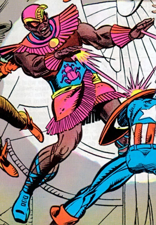 Scarlet Scarab (Invaders character) (Marvel Comics) vs. Captain America