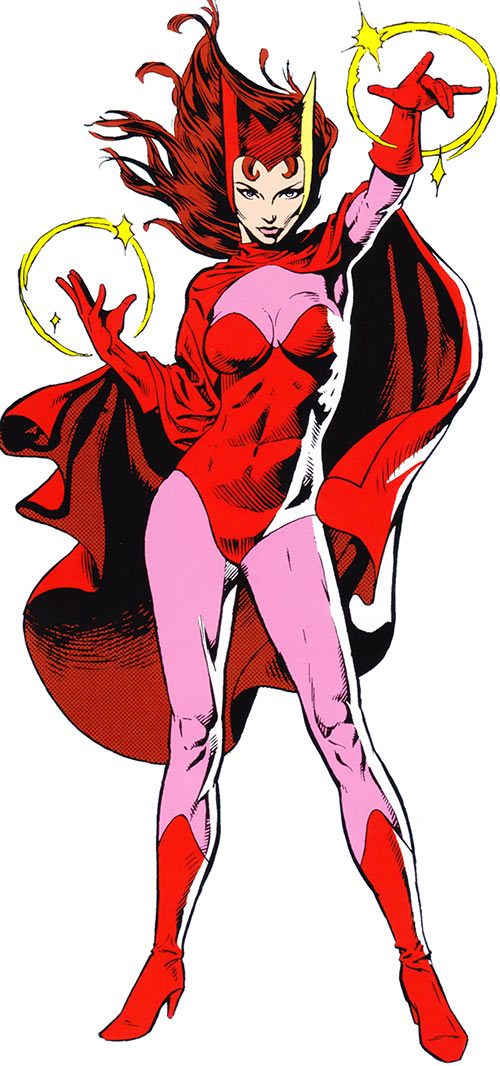 Scarlet Witch of the Avengers in the 1983 Marvel Comics handbook
