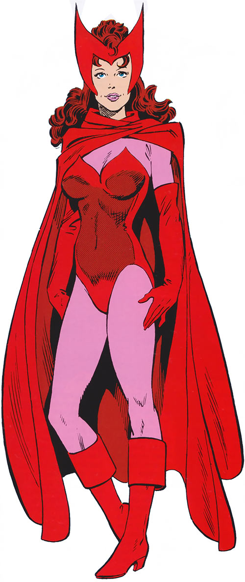 Scarlet Witch of the Avengers in the 1985 Marvel Comics handbook