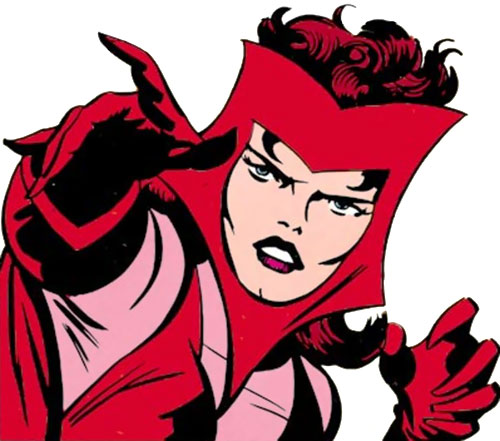 Scarlet Witch of the Avengers (Early version) (Marvel Comics) pointing