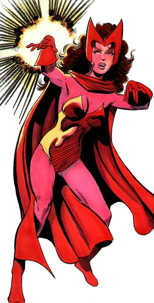 Scarlet Witch of the Avengers (Early version) (Marvel Comics) during the 1980s
