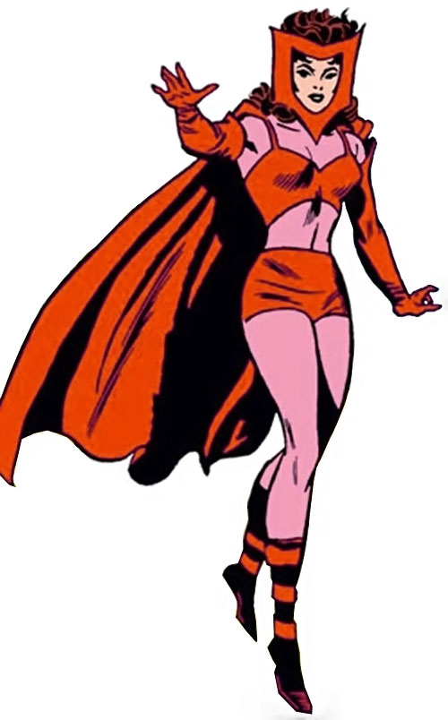 Scarlet Witch of the Avengers (Early version) (Marvel Comics) with the bikini version of the costume