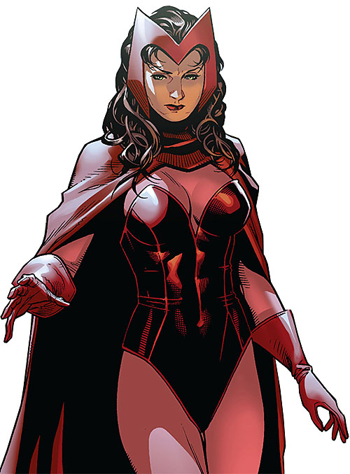 Scarlet Witch of the Avengers (Early version) (Marvel Comics) retro costume modern art
