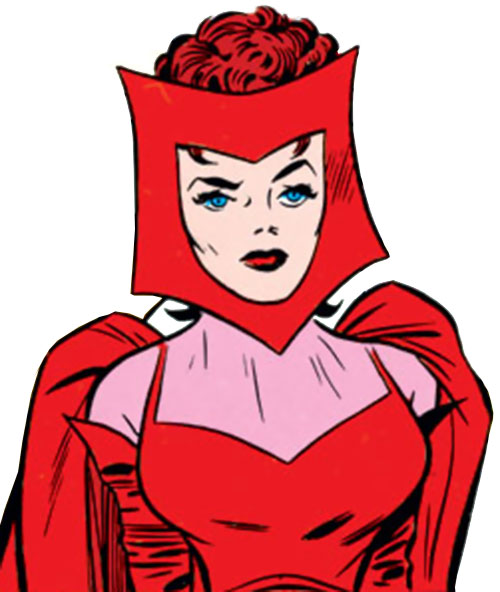 Scarlet Witch of the Avengers (Early version) (Marvel Comics) vintage portrait