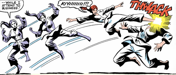 Scarlett (GI Joe Marvel Comics) jumping kick, gi