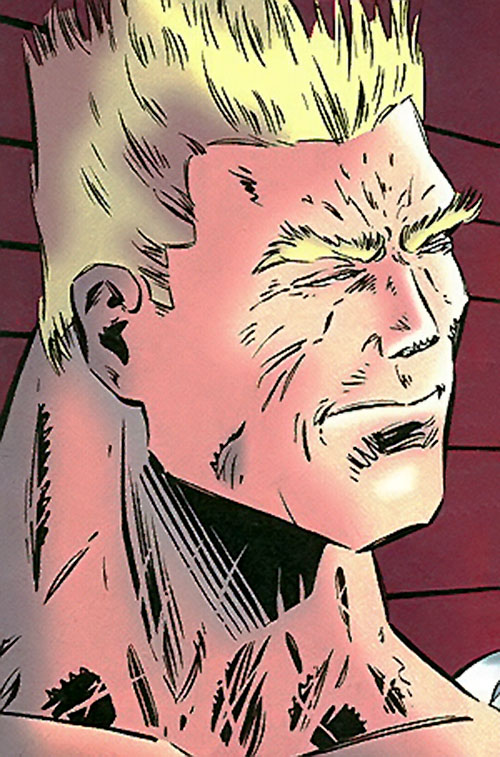 Scarth (Manhunter enemy) (DC Comics) face closeup