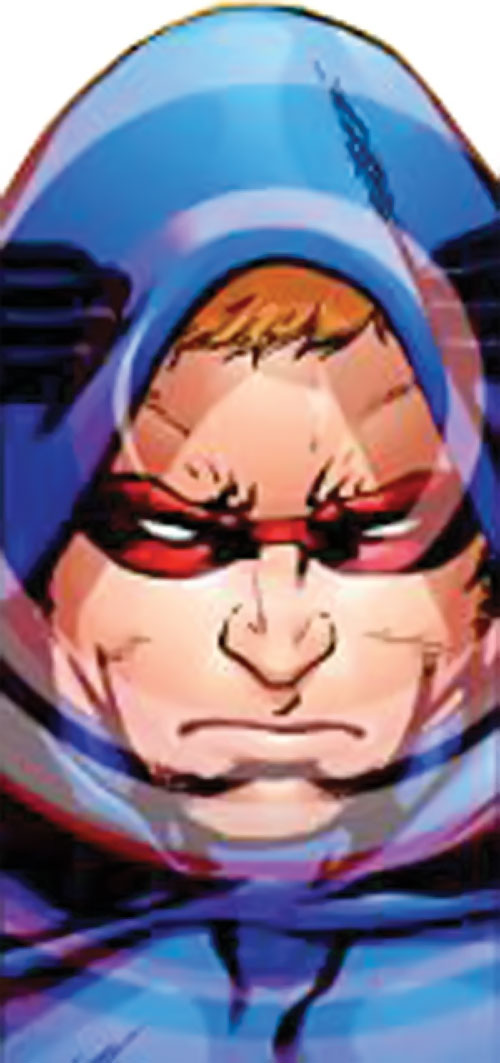 Scatterbrain of the Dynamo 5 (Image Comics) face closeup using his power