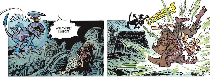 Schniarfer (Valerian & Laureline) stopping a Limboz thief