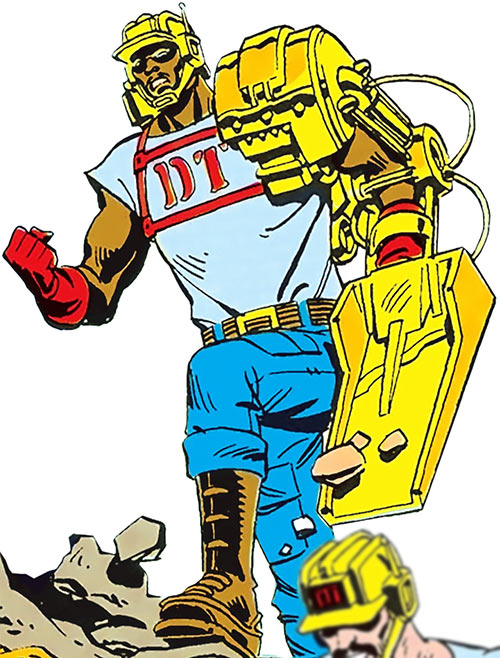 Scoopshovel (DC Comics) of the Demolition Team from the Who's Who