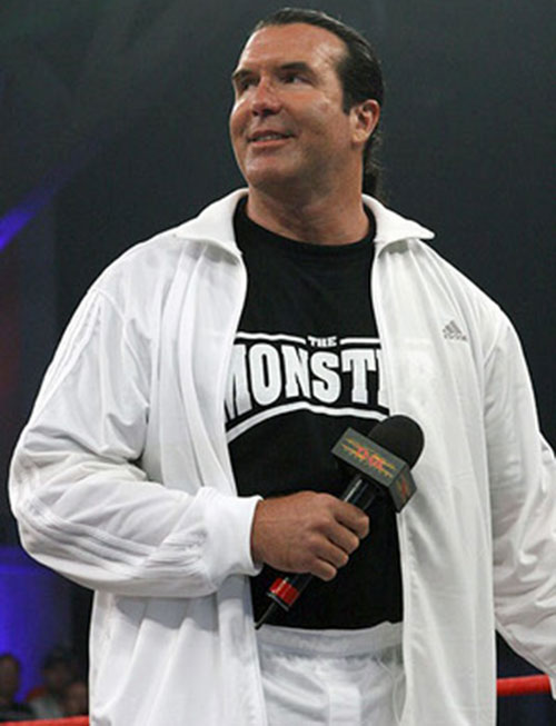 Scott Hall (wrestler) in a white tracksuit