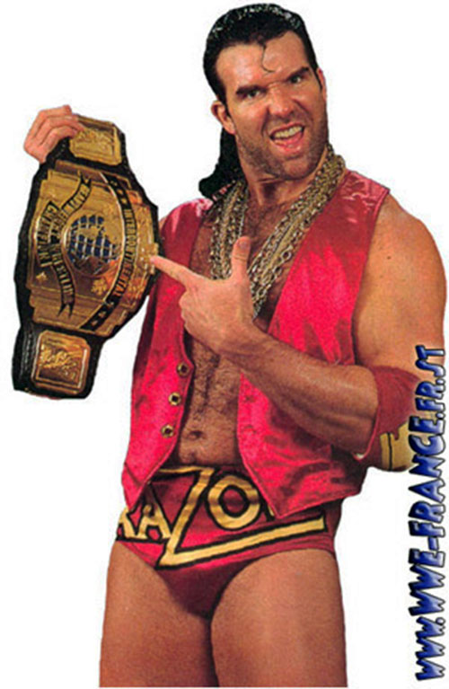 Scott Hall (wrestler) as Razor Ramon with title belt