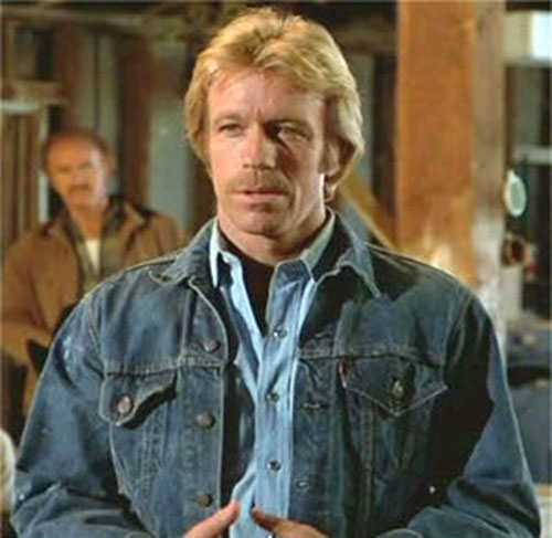 Scott James (Chuck Norris in The Octagon) in denim