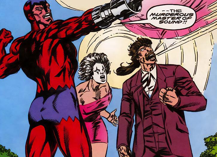 Screaming Mimi (Marvel Comics) (Melissa Gold) during a wedding
