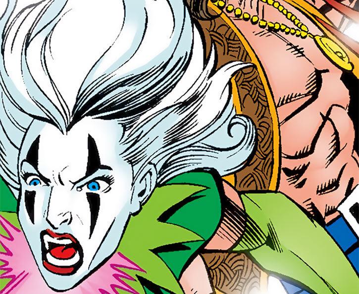 Screaming Mimi (Marvel Comics) (Melissa Gold) and Angar the Screamer