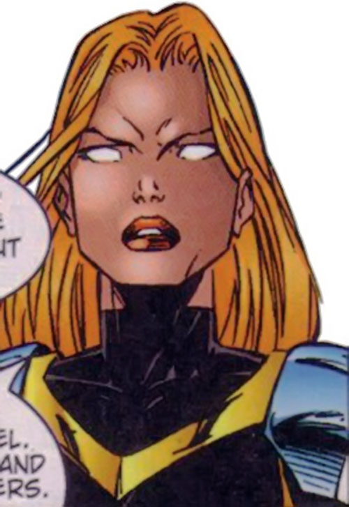 Scythe of StormWatch (Serbian super-hero) (Wildstorm Comics) face closeup