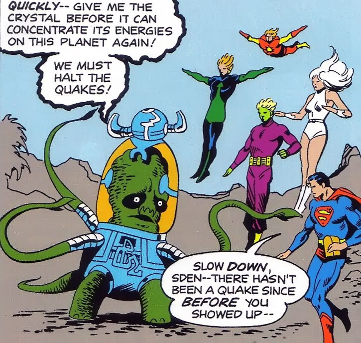 Sden briefs Superboy and the Legion of Super-Heroes