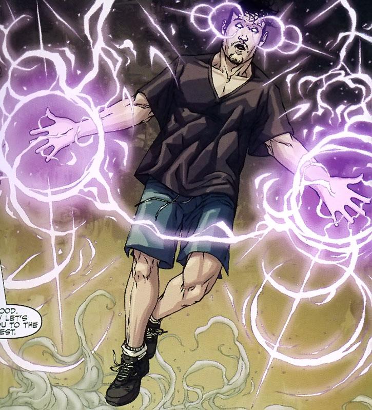 Sebastian Druid using magic
