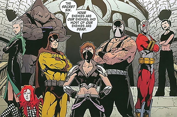 The Secret Six posing