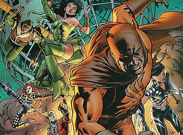Catman and the Secret Six attacking