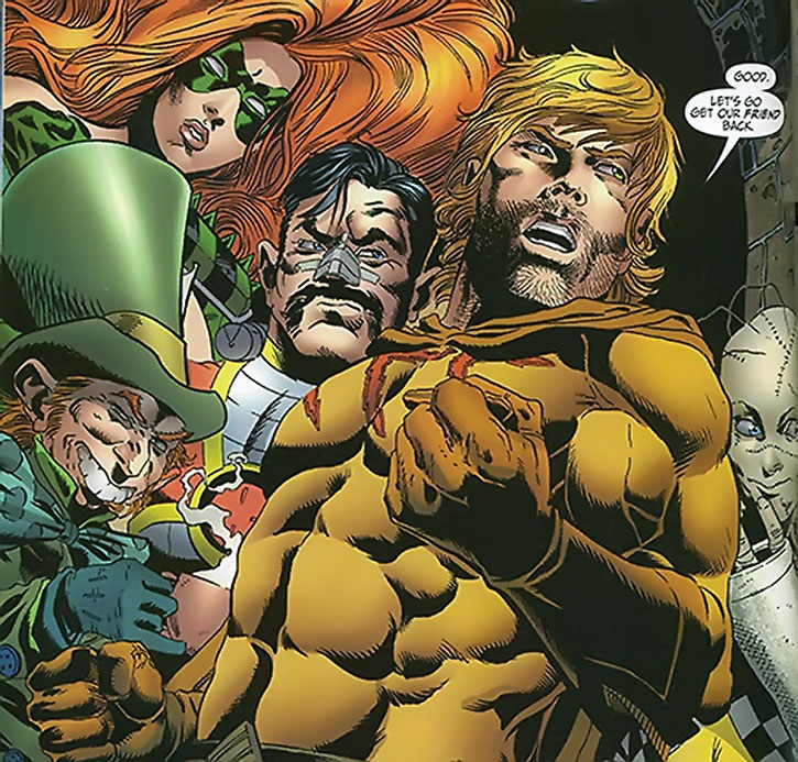The Secret Six - Knockout, the Mad Hatter, Deadshot, Catman and Ragdoll