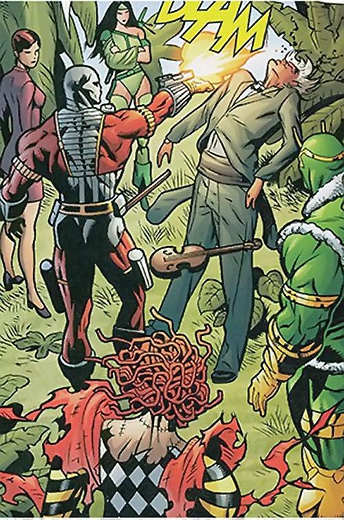 Secret 6 (DC Comics) (Gail Simone version) - Deadshot kills the Fiddler