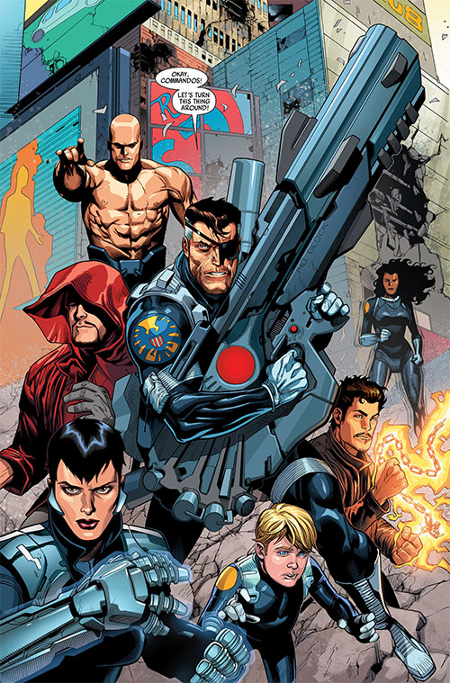 Secret Warriors team (Marvel Comics) and Nick Fury