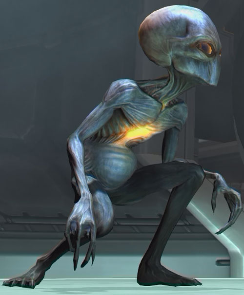 Sectoids (XCom video game) - crouched