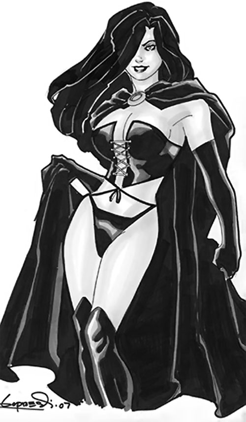 Selene the Black Queen (X-Men & New Mutants enemy) (Hellfire) (Marvel Comics) B&W Lopresti sketch